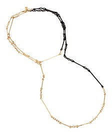 Two-Tone Mixed Stick Link Long Necklace