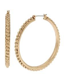 Robert Lee Morris Soho Bead Textured Hoop Earrings