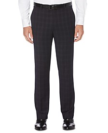 Portfolio Men's Slim-Fit Stretch Subtle Tonal Plaid Dress Pants