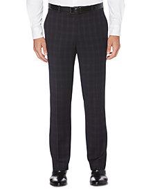 Perry Ellis Portfolio Men's Slim-Fit Stretch Subtle Tonal Plaid Dress Pants