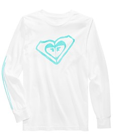 Roxy Big Girls Logo-Print Cotton T-Shirt