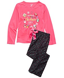 Big Girls 2-Pc. Holiday Stuff Pajama Set