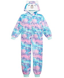 Big Girls 1-Pc. Hooded Ombré Panda Pajamas, Created For Macy's