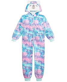 Big Girls 1-Pc. Hooded Ombré Panda Pajamas, Created For Macy's