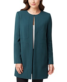 Petite Collarless Topper Jacket