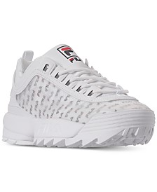 Fila Women's Disruptor II Clear Logo Casual Athletic Sneakers from Finish Line
