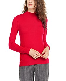 Juniors' Mock-Neck Sweater