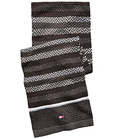 Men's Ski Patrol Herringbone Striped Scarf