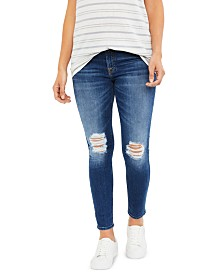 7 For All Mankind Maternity Distressed Jeans
