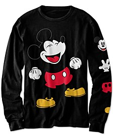 Little Boys Laughing Mickey Mouse T-Shirt