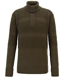 BOSS Men's Bastiani Zip-Neck Troyer Sweater