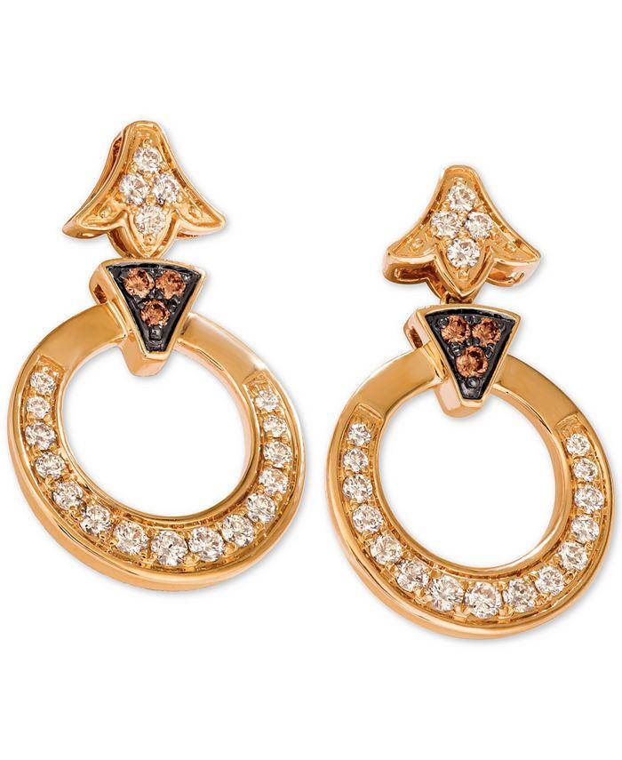 Le Vian - Diamond Circular Drop Earrings (1-1/5 ct. t.w.) in 14k Gold
