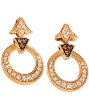 Diamond Circular Drop Earrings (1-1/5 ct. t.w.) in 14k Gold