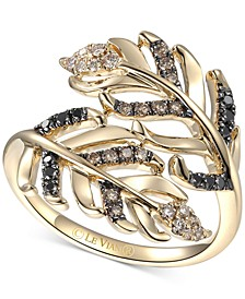 Heavenly Feathers® Diamond Bypass Ring (1/3 ct. t.w.) in 14k Gold