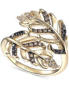 Le Vian® Heavenly Feathers® Diamond Bypass Ring (1/3 ct. t.w.) in 14k Gold