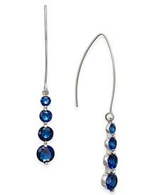 INC Crystal Graduated Threader Earrings, Created For Macy's