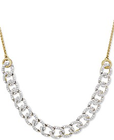 "Diamond Chain Link Adjustable 26"" Bolo Necklace (1/2 ct. t.w.) in 10k Gold, Created for Macy's"