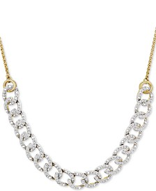 "Wrapped in Love™ Diamond Chain Link Adjustable 26"" Bolo Necklace (1/2 ct. t.w.) in 10k Gold, Created For Macy's"