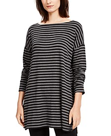 Striped Boat-Neck Tunic, Regular & Petite