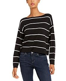 Striped Bateau-Neck Sweater