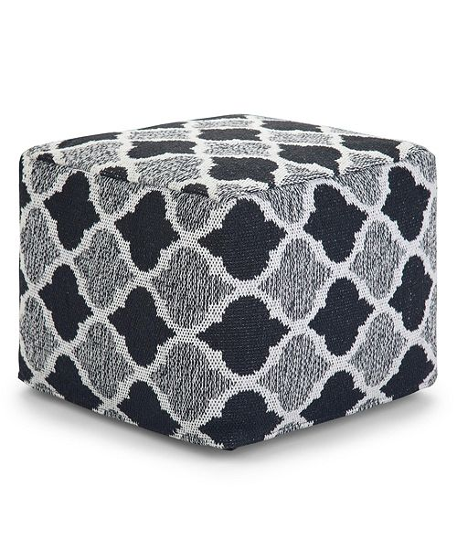 Furniture Currie Square Pouf, Quick Ship