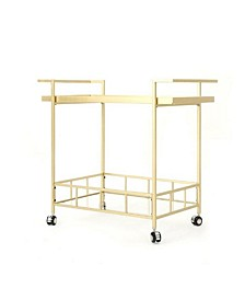 Camden Indoor Industrial Bar Cart, Quick Ship