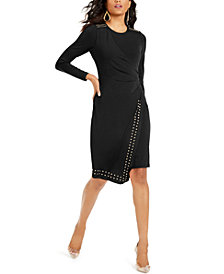 Thalia Sodi Studded Wrap Sheath Dress, Created For Macy's