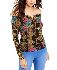 Sweetheart-Neck Printed Top, Created For Macy's