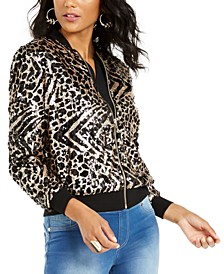 Sequined Animal-Print Jacket, Created For Macy's