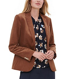Corduroy Single-Button Blazer