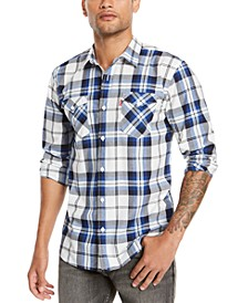 Men's Clemente Regular-Fit Plaid Shirt