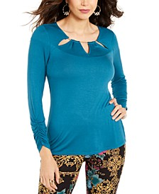 Embellished Neck Top, Created for Macy's