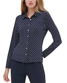 Tommy Hilfiger Polka Dot Button-Up Shirt