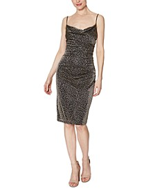 Animal-Print Ruched Dress