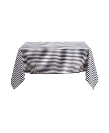 """Square Checkered Spillproof Wrinkle Resistant Tablecloth, 54"""" W x 54"""" L"""