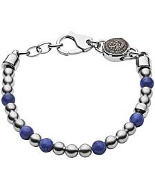Men's Beaded Two-Tone Semi-Precious Bracelet
