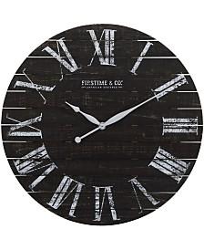 FirsTime & Co Midnight Shiplap Wall Clock