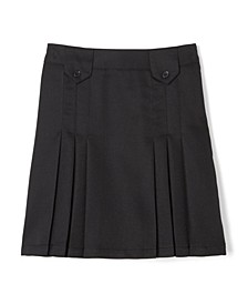 Plus Girls Front Pleated Skirt with Tabs