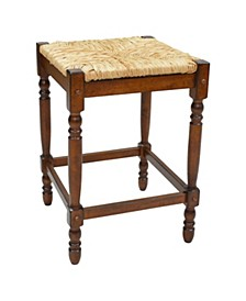 """French Country 24"""" Turned Leg Seat Stool"""