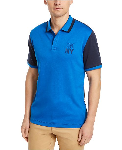 DKNY Men's Colorblocked Supima Cotton Polo Shirt