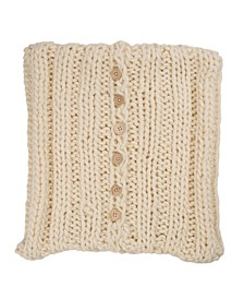 Handmade Acrylic Cable Knit Pillow Cover