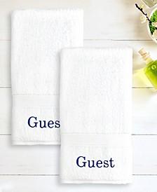 """100% Turkish Cotton """"Guest"""" 2-Pc. Hand Towel Set"""