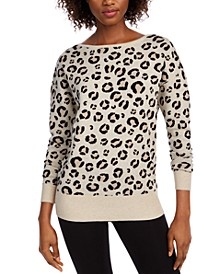 Leopard Print Sweater, Created for Macy's