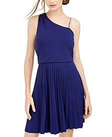 Juniors' Asymmetrical-Strap Dress