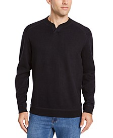Men's Flip Side Classic-Fit Reversible Split-Neck Sweatshirt, Created For Macy's
