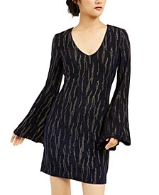 Juniors' Glitter Stripe Dress