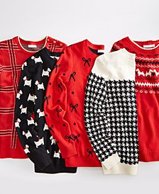 Classic Holiday Print Pullover Sweaters, Regular & Petite Sizes, Created For Macy's