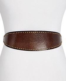 Frye & Co Studded Leather Waist Belt