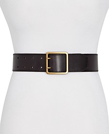 Frye & Co Wide 2-Prong Leather Jeans Belt