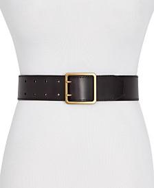 Frye & Co Wide 2-Prong Leather Jeans Belt
